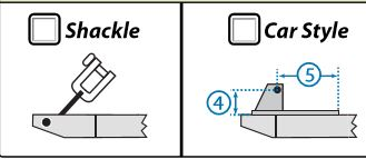Our measurement forms require you to select wether or not your sail is connected by shackle or outhaul