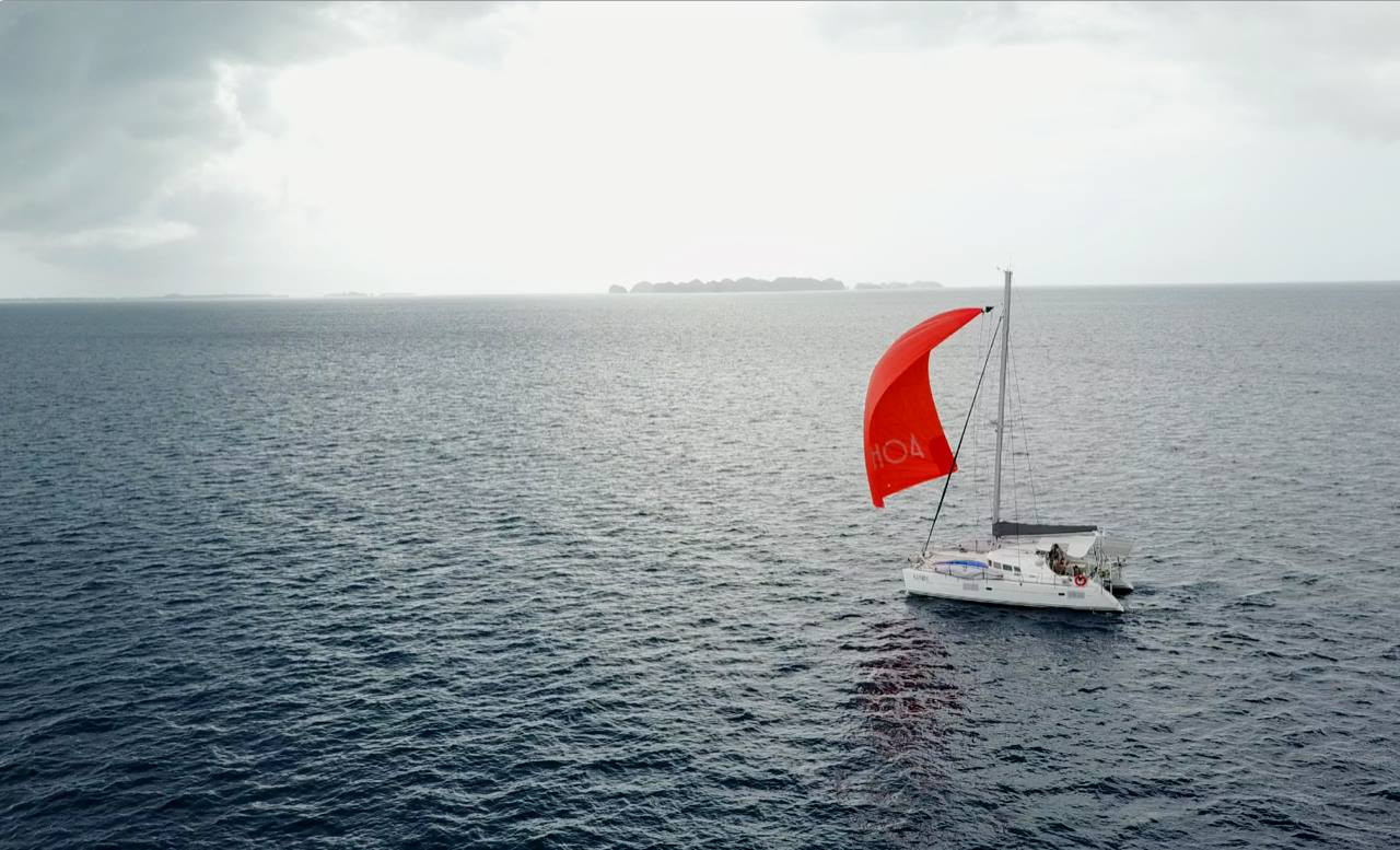 Sailing Nahoa Orange Spinnaker