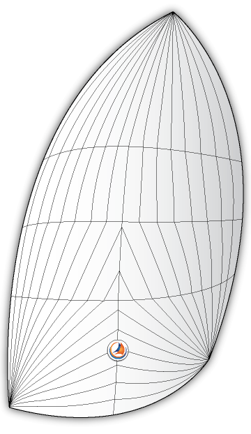 Standard Size Asymmetrical Spinnaker