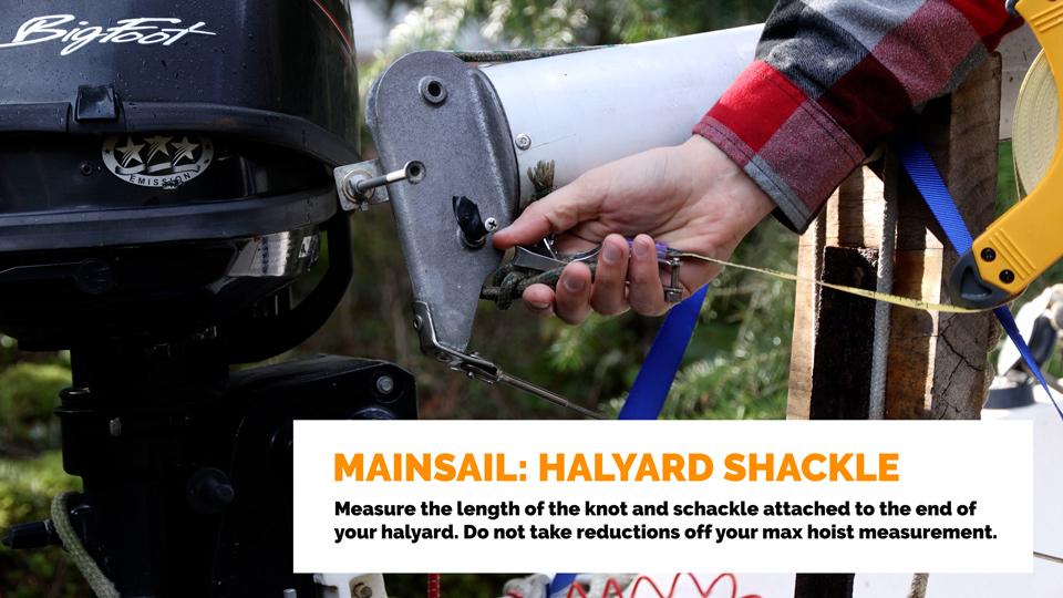 Mainsai: Halyard Shackel