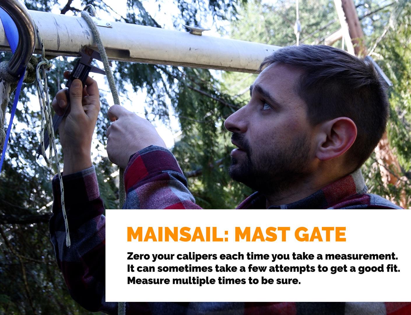 Mainsail: Mast Gate