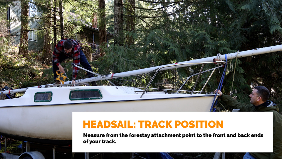 Headsail Track Position